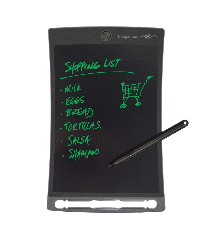 Սև թաբլեթ է կապույտ եզրագծերով։ Թաբլեթի ստորին հատվածում ամրացվում է գրիչը։