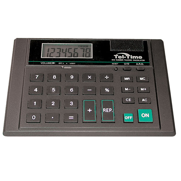 Looks like an ordinary calculator but this one has volume control button to adjust the sound level.